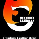 Century Gothic Bold Font Iconic Charactography - G by Custranz