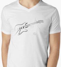 Stylised Guitar Men's V-Neck T-Shirt