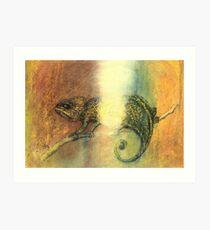 Chameleon and Light Art Print
