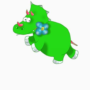 green dinosaur by bunty