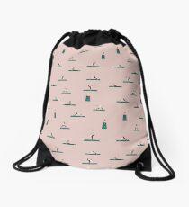 """""""Namaste"""" Yoga Print Drawstring Bag"""
