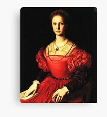 Elizabeth Bathory the blood queen portrait Canvas Print