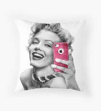Selfie Marilyn Throw Pillow