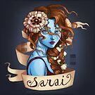 Sarai in Flowers by BlackBirdInk