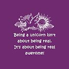It's awesome being a Unicorn | Purple by DarinaDrawing