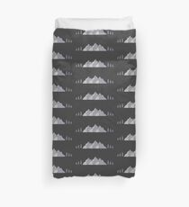 Home is Where the Mountains Are (and where people aren't) Duvet Cover