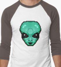8-Bit Alien  Men's Baseball ¾ T-Shirt