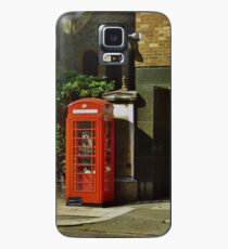Red Telephone Box Case/Skin for Samsung Galaxy