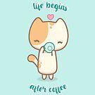 «Lala the cute cat - la vida empieza después del café» de komorebistars