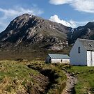 Buachaille Etive Mhor and Lagangarbh Cottage, Glencoe, Lochaber, Scotland by Stravaigin