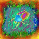 Protaetia cuprea ignicollis (Flower Beetle) - Psychedelic version by the vexed  muddler