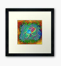 Protaetia cuprea ignicollis (Flower Beetle) - Psychedelic version Framed Print