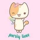 «Lala the cute cat - Party time!» de komorebistars