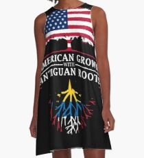 American Grown with Antiguan Roots   Antigua and Barbuda Design A-Line Dress