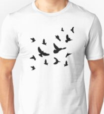 Black flying birds T-Shirt