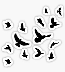 Black flying birds Sticker