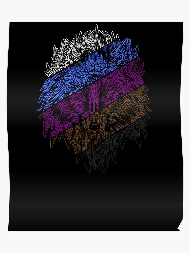 565cb66f Jiu-Jitsu Wolf Face BJJ Grappling Retro Belt Ranks T-Shirt
