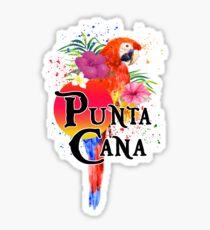 Pegatina Punta Cana República Dominicana Souvenir Tropical Macaw