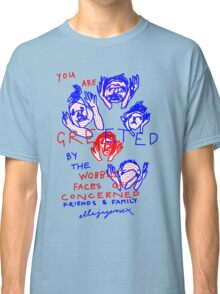 """'Greetings from the Wobbly Faces of Concern"""" Classic T-Shirt"""