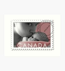 KISSES OF LOVE TO MY SWEET BABY OF MINE-CANADIAN STAMP OF LOVE Art Print