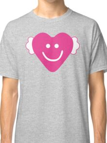 Cute Candy Heart - Grey and Pink Classic T-Shirt