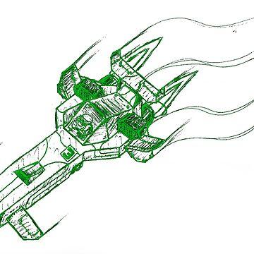 Raceship (Digital Green) Wipeout by CamrosX