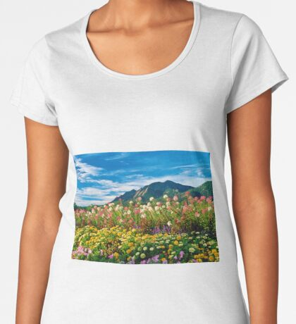 Flatirons And Flowers Women's Premium T-Shirt