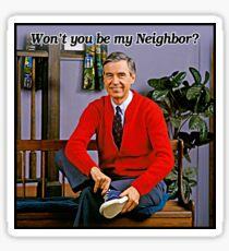 Ich bin nicht mein Nachbar - Mr. Rogers Sticker