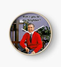 Won't you be my neighbor - Mr Rogers Clock
