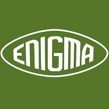 Enigma Machine Logo (White) by warbirdwear