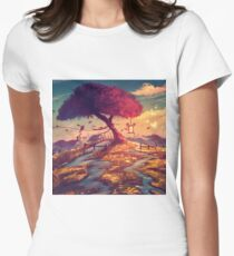 Lantern Tree Women's Fitted T-Shirt