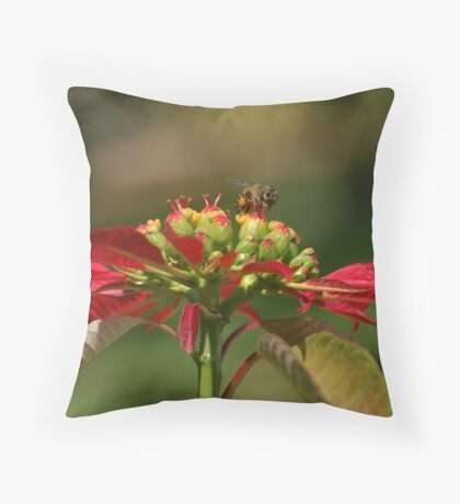 Illusion of Red Legs Throw Pillow