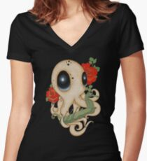 Caught Falling Deep Women's Fitted V-Neck T-Shirt