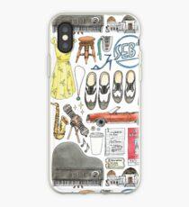 La La Land Illustration Jazz Saxophone Music Musical  iPhone Case