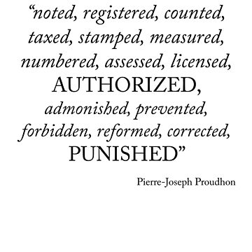 Anarchy. Pierre-Joseph Proudhon. I. by Prole
