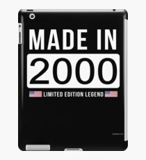 Made In 2000 Limited Edition Legend - Birthday Gift For D.O.B  2000 Born In  2000 iPad Case/Skin