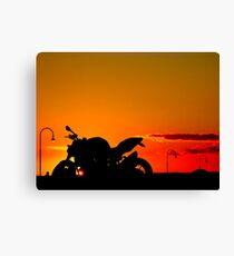 Streetfighter Sunset Canvas Print