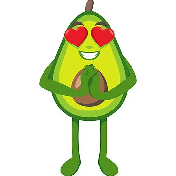 Heart Eyes Avocado Emoji by joypixels