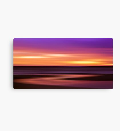 Slow Motion - abstract sunset Canvas Print