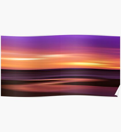 Slow Motion - abstract sunset Poster