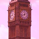 Pink Big Ben. by Marie Brown ©