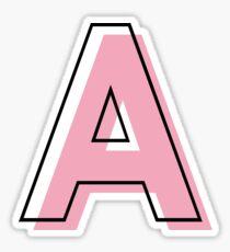 Pegatina Una personalización inicial Arte moderno Rosa claro