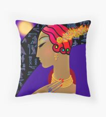 'Hollywood Nefertiti' Night on the Nile Throw Pillow