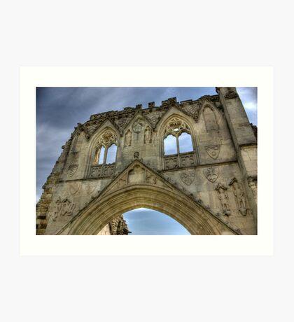 Kirkham Abbey   -  North Yorkshire Art Print