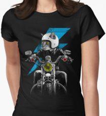 Biker Cat Women's Fitted T-Shirt