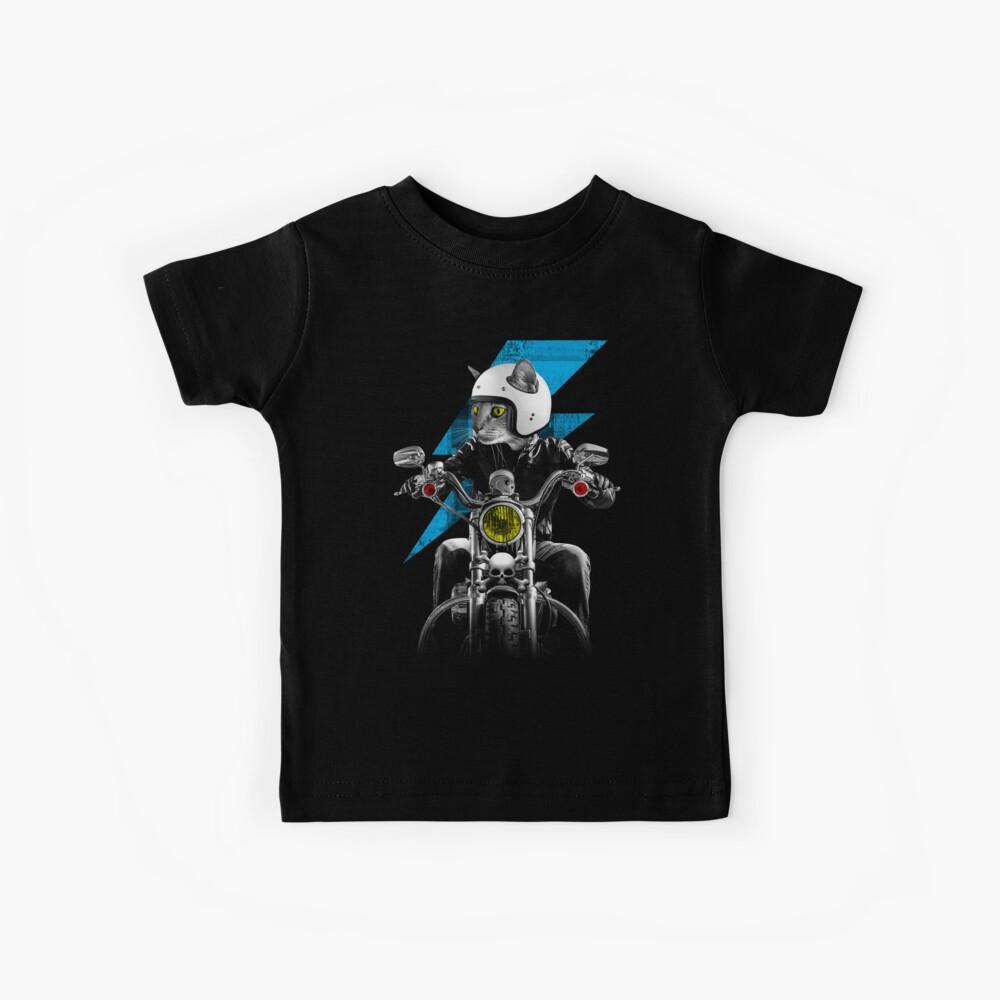 Biker Cat Kids T-Shirt