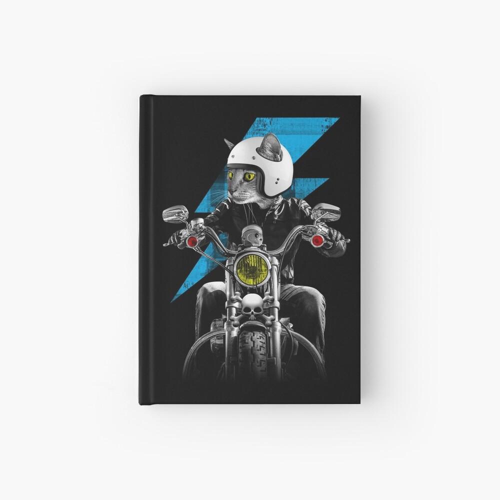 Biker Cat Hardcover Journal