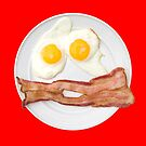 Bacon and Egg Smiley Face by Pamela Maxwell