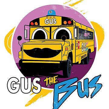 Gus the Safety Bus (White) by FMBDesigns