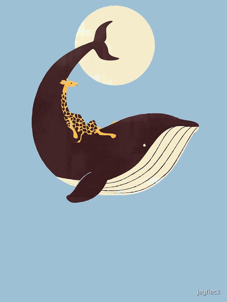 La jirafa y la ballena de jayfleck